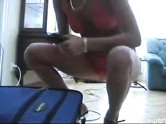 Профессиональная гимнастка раздвинула жопу перед любовником