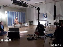 Закулисные съемки полнометражного фильма Marc Dorcel о медсестрах