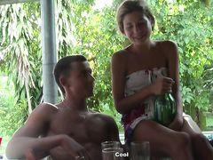 Запись видеодневника отдыхающей русской пары любителей секса