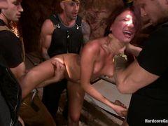 Грубые шахтеры жестко выебали во все дырки новенькую девчонку