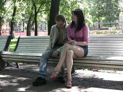 Русские подростки познакомились на улице и потрахались в тот же день