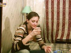 Обычная русская девушка напилась и потрахалась с лучшим другом