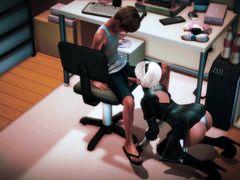 Лучший мультфильм с жестко трахающейся парочкой в офисе