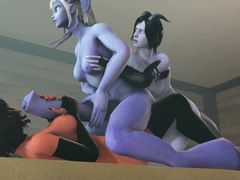 Красивые демоны с членами трахаются в мультике для взрослых