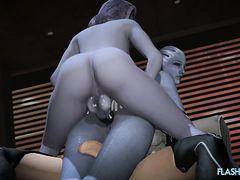 Героини компьютерных игр трахаются членами футанари в мульт подборке