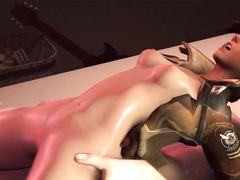 Напряженные герои компьютерной игры Overwatch занялись сексом