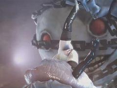Мультяшная подборка группового секса сисястых телочек с роботами