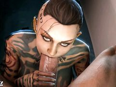 Друидка в татуировках делает отменный заглот члена главному жрецу