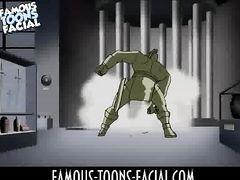 Разозлившийся Супермен жестко ебет в жопу Чудо Женщину