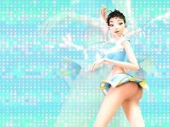Привлекательная мульт героиня танцует стриптиз в мультфильме