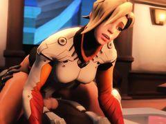На космическом корабле земная красавица занимается сексом со штурманом