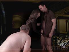 Толстый муж вылизывает пизду жены после члена любовника