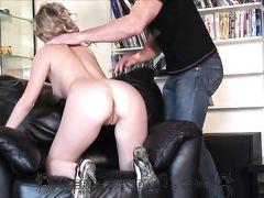 Партнер занялся анальным сексом с блондинкой на приватном кастинге