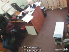 Предприниматель развел на секс в офисе русскую простушку с улицы