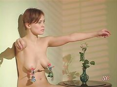 Жестокое доминирование и сексуальные пытки связанной русской девочки