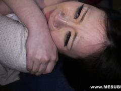 Доминирующий япошка связал и трахнул бедную девчонку