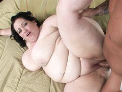 Реально жирная баба занялась сексом от 1 лица с любовником